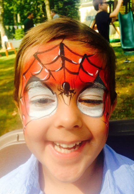 Spider face painting