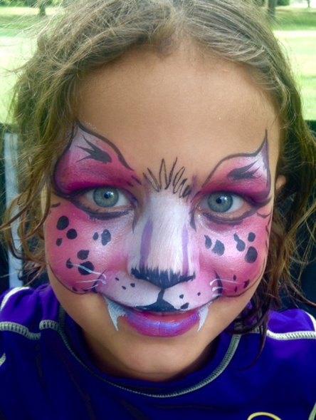 Cat face painting for kids
