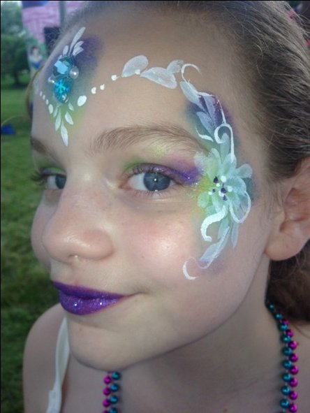 Floral face painting design
