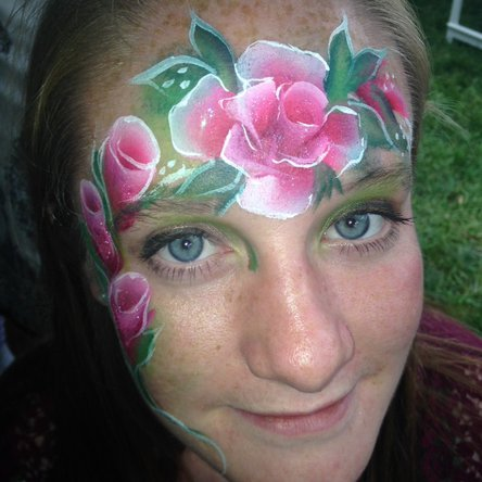 Roses face painting
