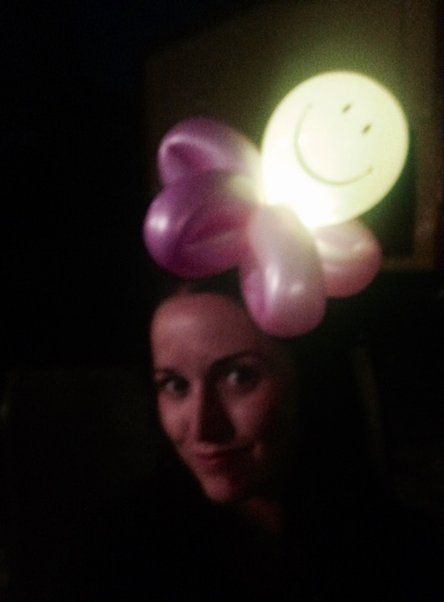 Light up hat balloon twisting