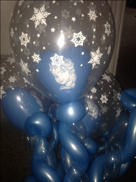 Elsa wand balloon