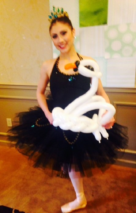 Swan lake balloon for ballerina