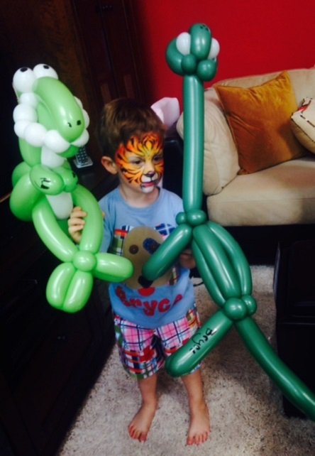 Dinosaur balloon twisting