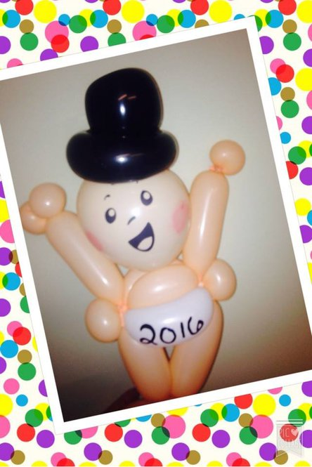 New Years Baby ballon