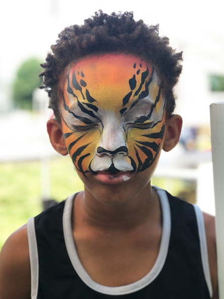 Tiger face painting ideas for kids