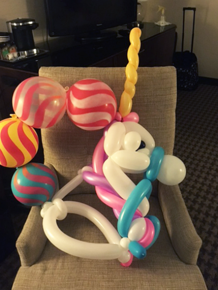 Unicorn from balloons