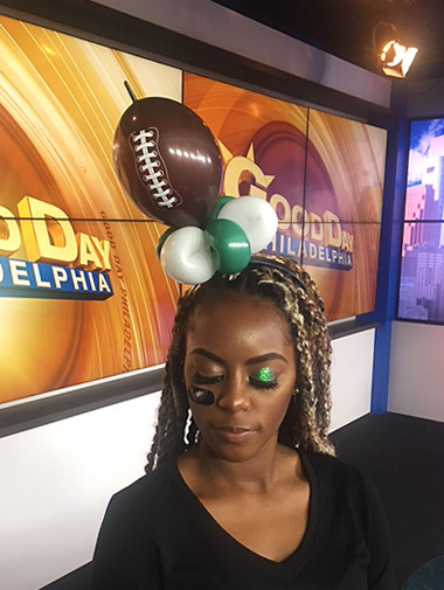 Football-fan balloon hat