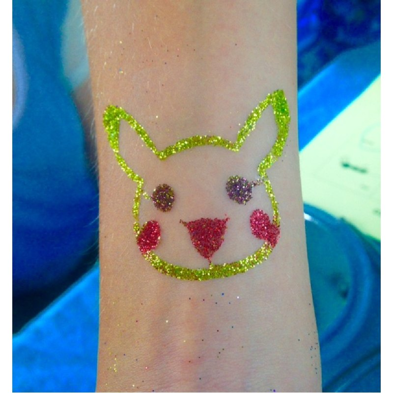 Glitter tattoos are completely safe and professional