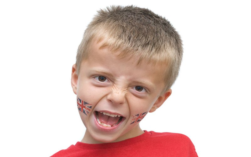 Flag of the Great Britain Temporary tattoos for kids
